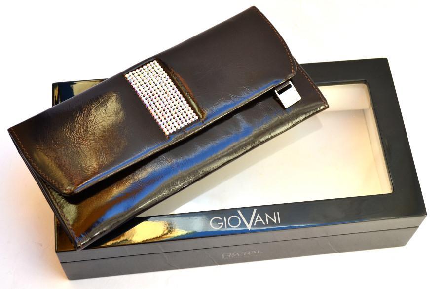 bae132767697a ... cv-460 Swarovski kolekcja Giovani skórzany portfel damski ...