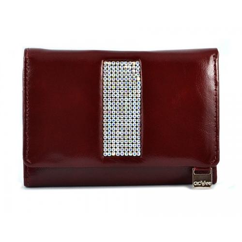 95262c8776447 cv-230 Swarovski skórzany portfel damski kolekcja Giovani to ...