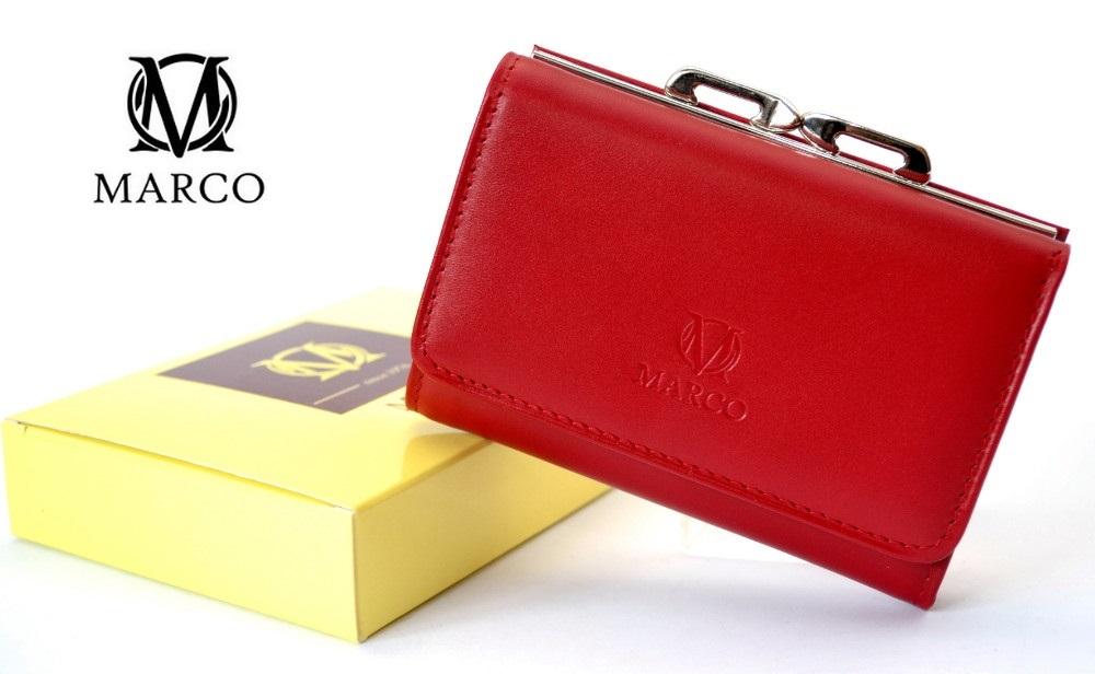 dc657673d6460 MARCO skórzany portfel damski PD-06 czerwono-niebieski