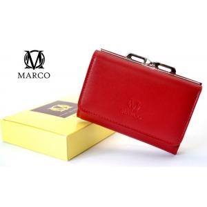 55a4d4d1ee2ca MARCO skórzany portfel damski PD-06 czerwono-niebieski