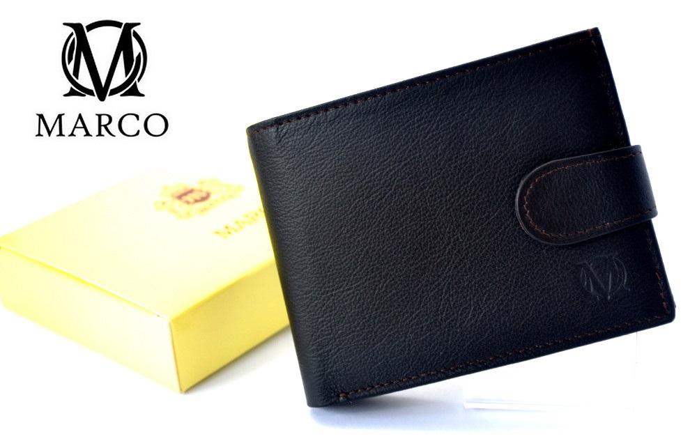 9073822e40df9 MARCO zapinany portfel skórzany PM-232-z Skóra Prada