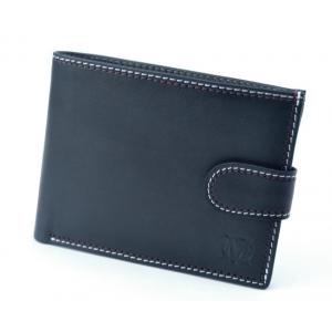 357d5716903fd MARCO PM-232 skórzany portfel z ozdobną nitką granatowy
