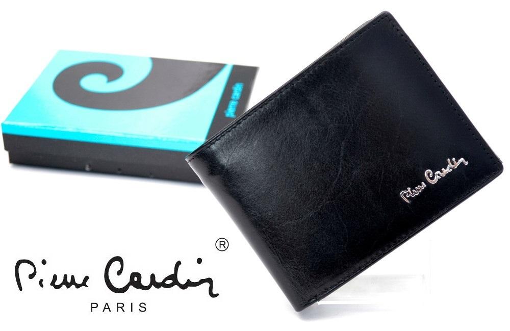 f7a48f8131100 PIERRE CARDIN 910-L czarny portfel męski  NEW