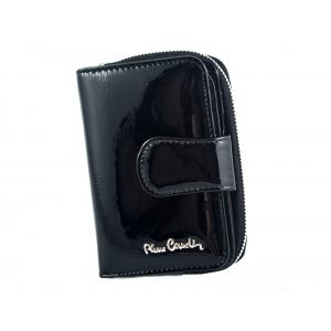 fa46e9053a0a0 PIERRE CARDIN skórzany portfel damski 02 LEAF 115 czarny
