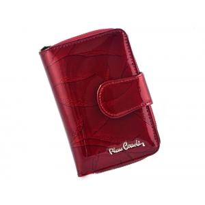 5cc7bcd78638f PIERRE CARDIN skórzany portfel damski 02 LEAF 115 czerwony