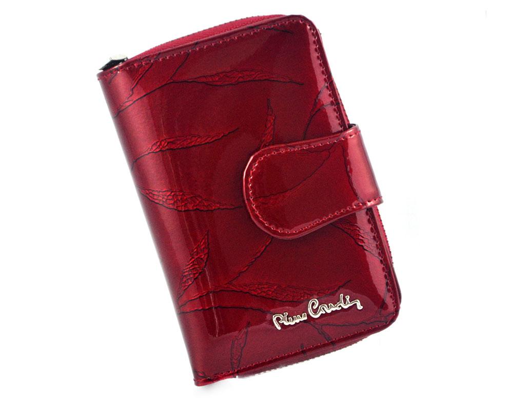 2c856000602b6 PIERRE CARDIN skórzany portfel damski 02 LEAF 115 czerwony ...