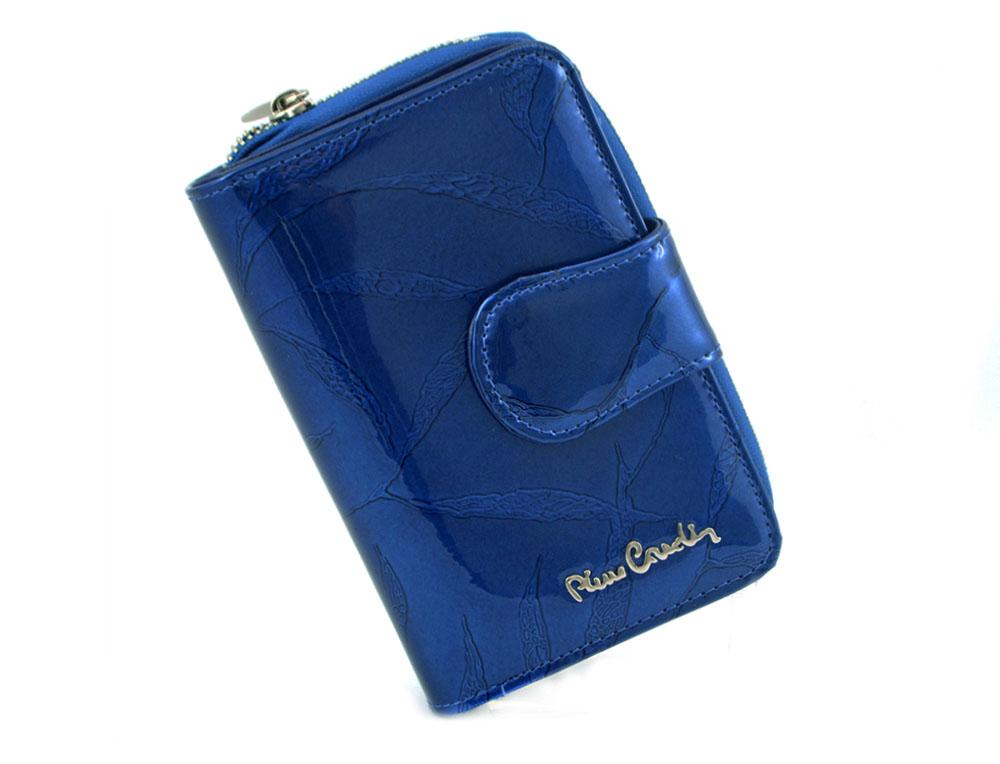 1d755ef5692c9 PIERRE CARDIN skórzany portfel damski 02 LEAF 115 niebieski ...