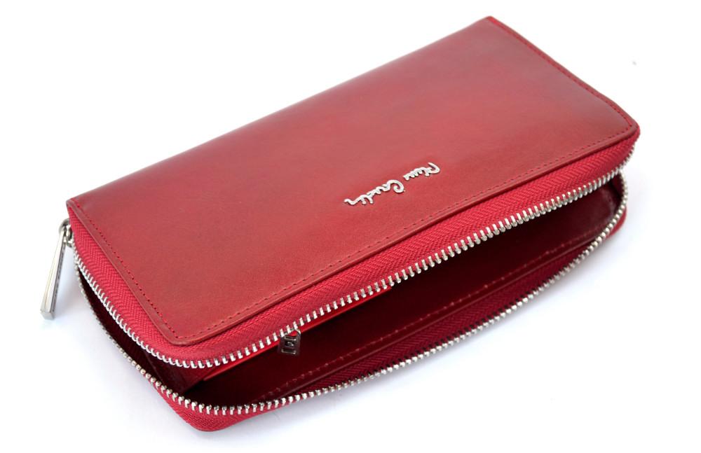 222d97d64aa9f ... PIERRE CARDIN czerwony portfel damski kopertówka PSP520 ...