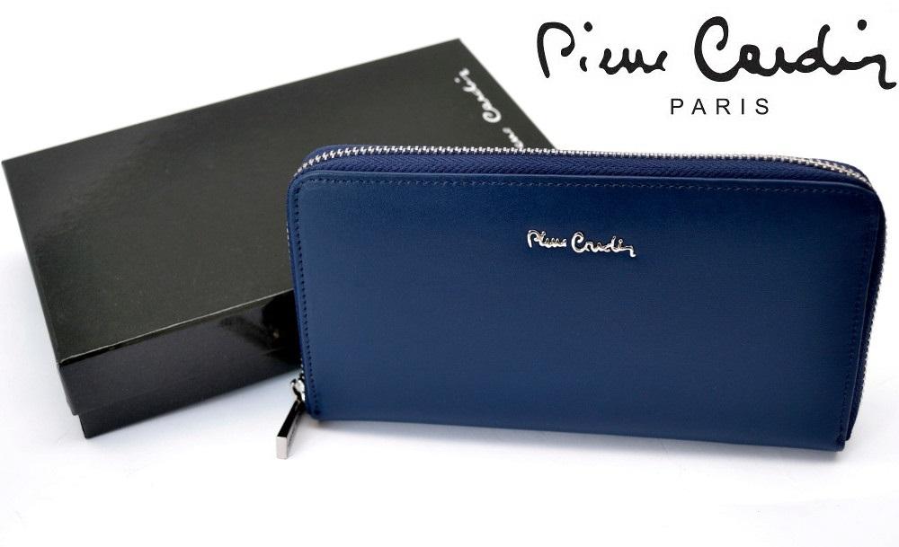 7905b8060a3d6 PIERRE CARDIN skórzany portfel damski kopertówka - KOLORY