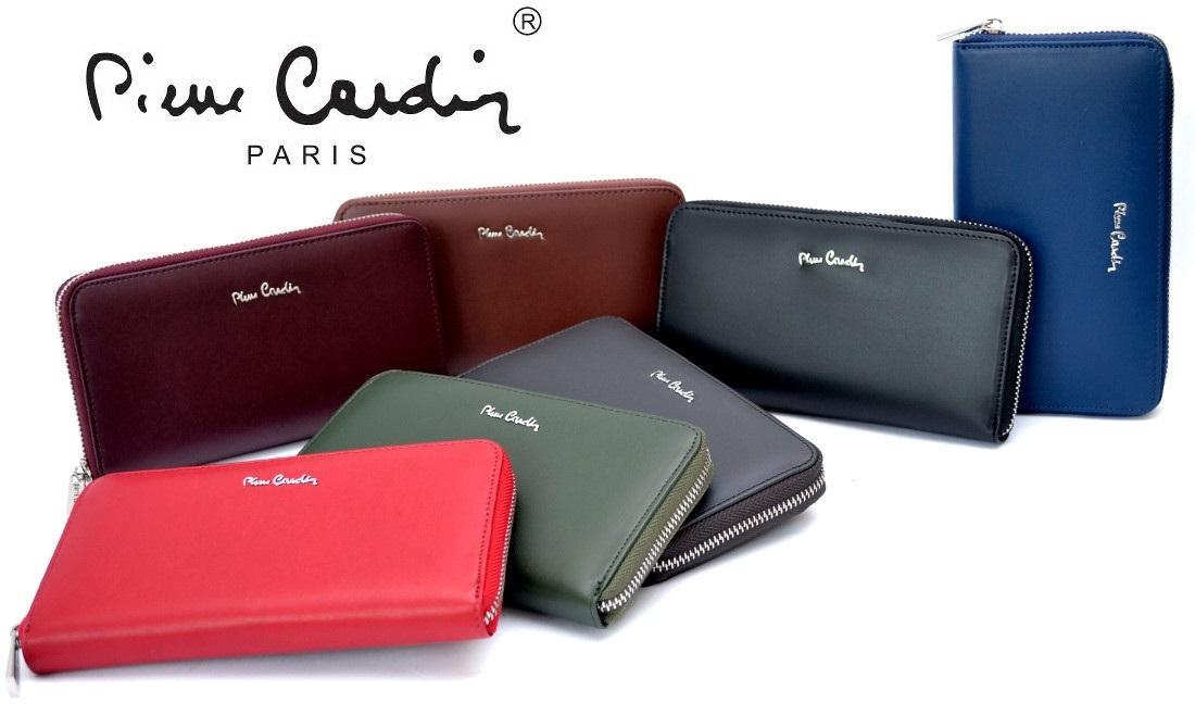 ab48ba1ed21dc PIERRE CARDIN skórzany portfel damski kopertówka - KOLORY