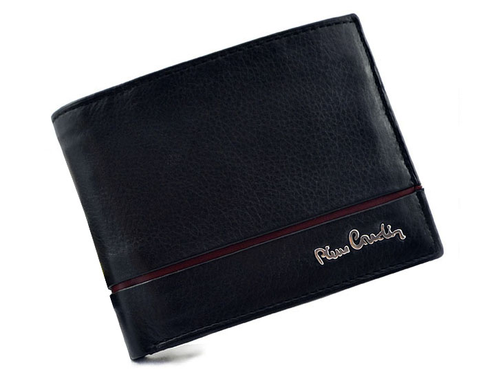 2e241ee2708e9 PIERRE CARDIN skórzany portfel męski Sahara 325  ochrona RFID