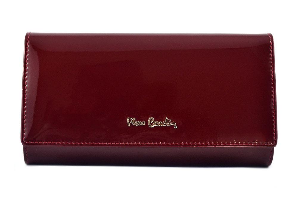 f4e63f97d04cd PIERRE CARDIN damski portfel skóra lakierowana czerwony 05 LINE 102 - prawie  organizer