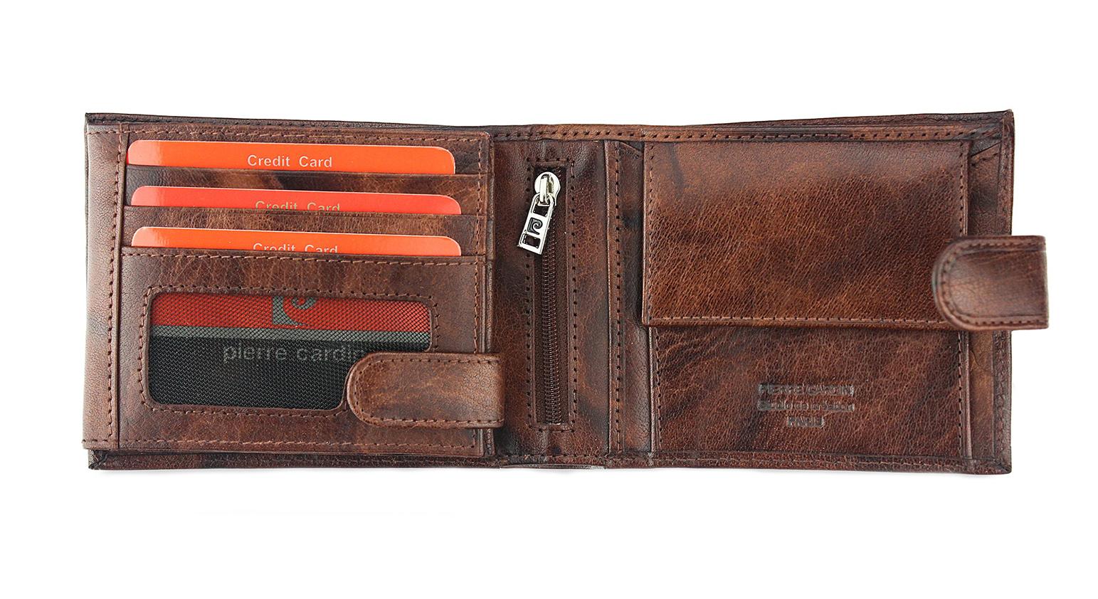 054673860eb40 PIERRE CARDIN 910-z zapinany skórzany portfel męski to najlepsze ...