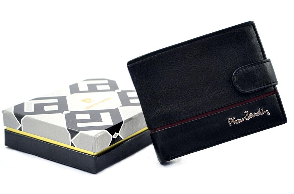 34b8cb495394a PIERRE CARDIN skórzany portfel męski Sahara 323A   nieduży   ochrona RFID
