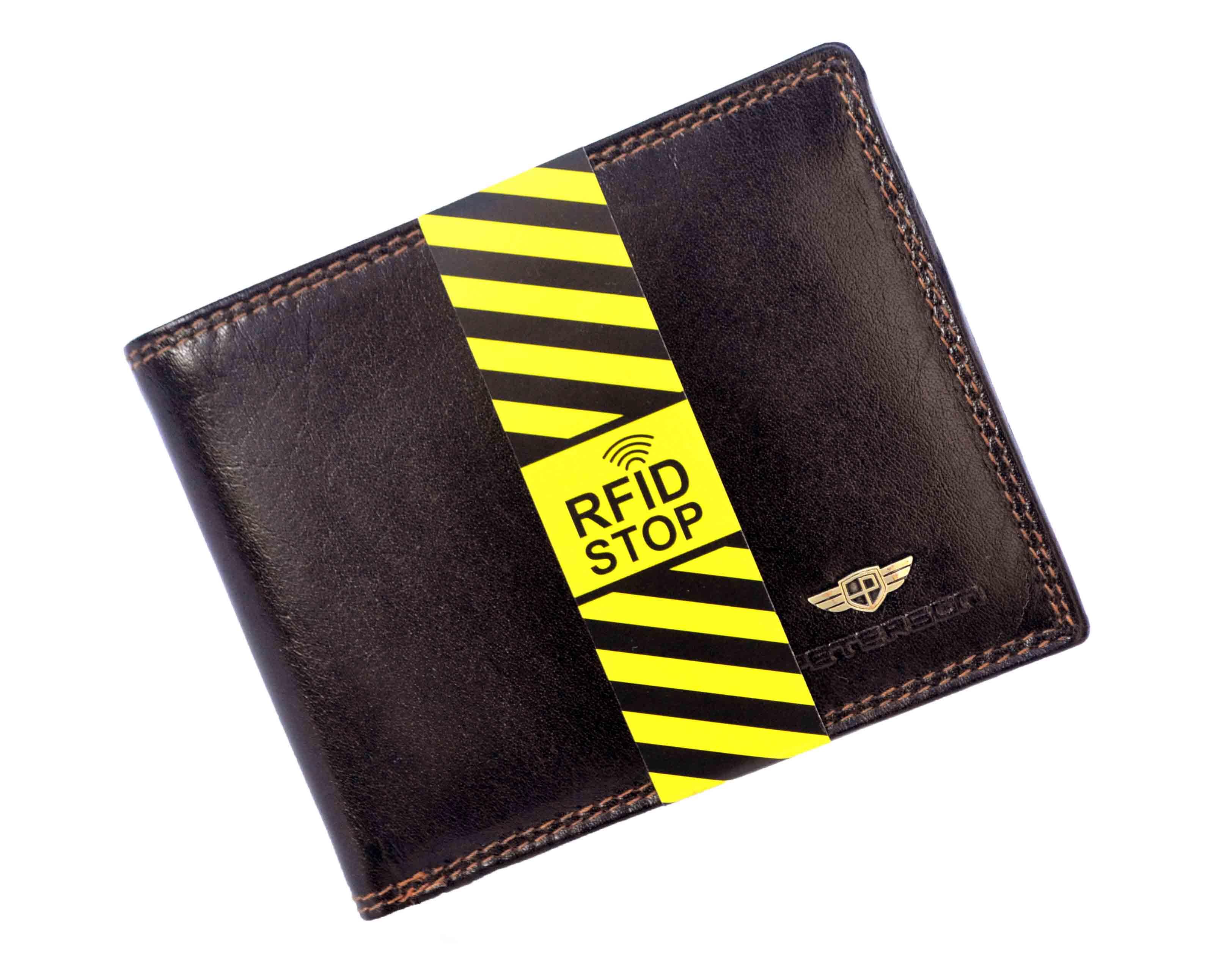 43476ab4359ca PETERSON PORTFEL MĘSKI SKÓRZANY STOP RFID 354R -2-2-1 brąz