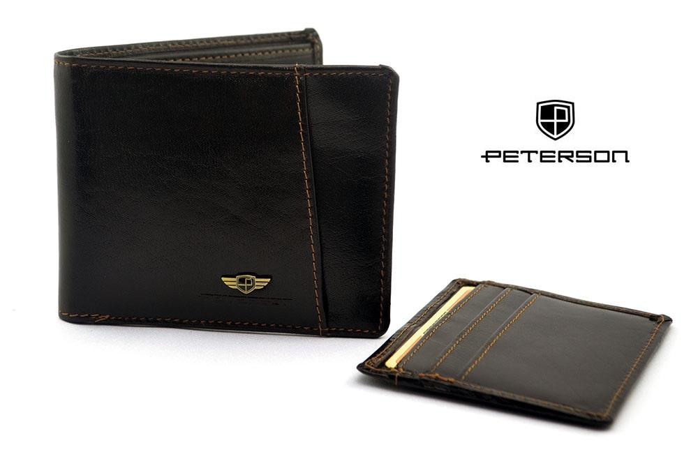 2eb8fb6ae0e05 PETERSON - Portfel skórzany męski 381 2-2-1 z dodatkową wkładką/etui na  karty