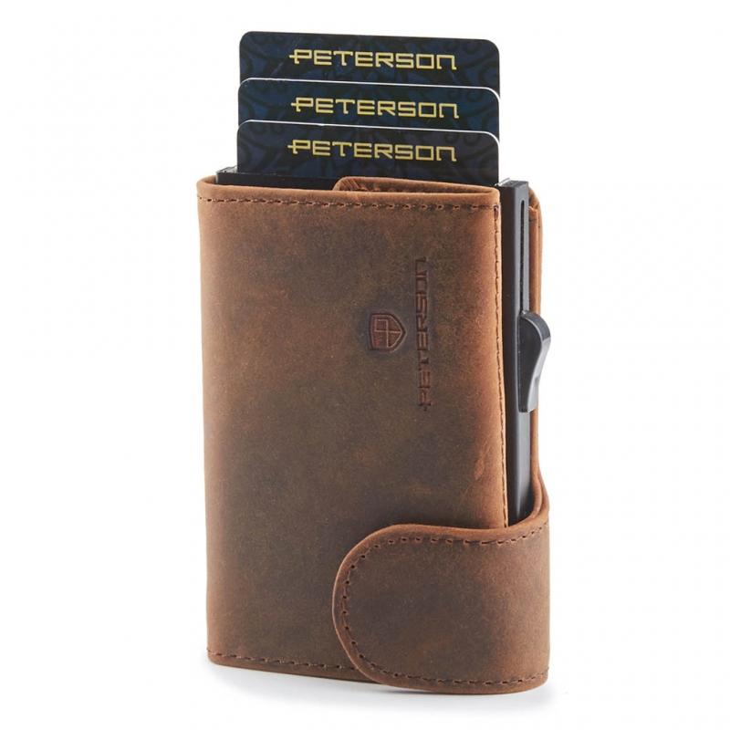 3c4a5cf05ba72 PETERSON 604-4 Portfel Etui SMYQ na karty kredytowe i banknoty, bilon HIT